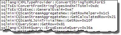 Stream Aggregate stack trace