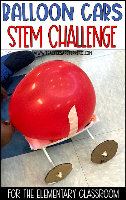 STEM Challenge Build a Balloon Car for a hands-on activity for Newton's Third Law of Motion!