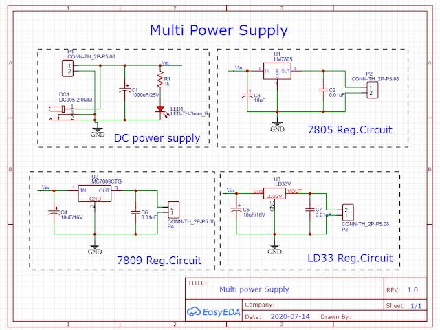Lesson - 7 : PCB design Multi Power Supply
