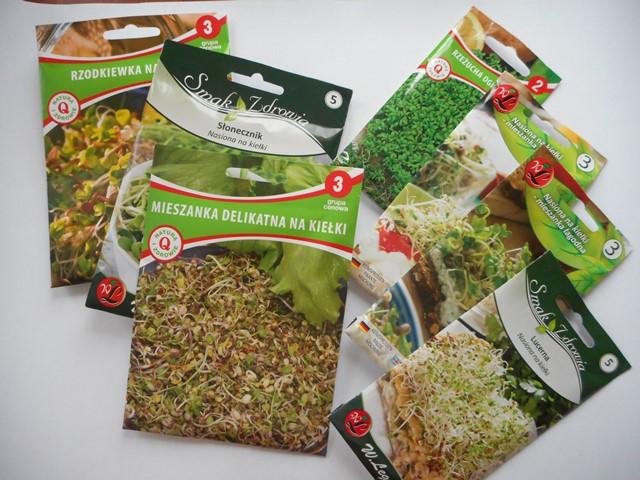 kiełki, uprawa kiełków, kiełkowanie nasion,