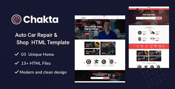 Best Auto Parts Shop HTML Template
