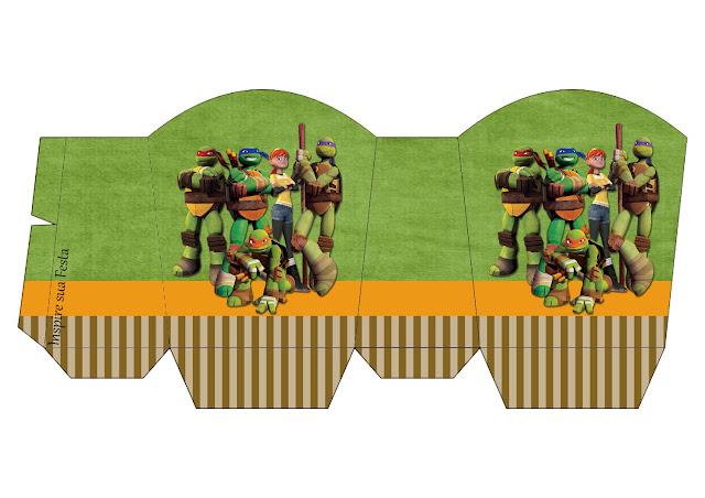 Cajas de Tortugas Ninja para imprimir gratis.