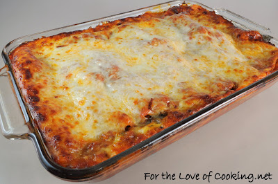 Ground Beef, Caramelized Onion, and Spinach Lasagna