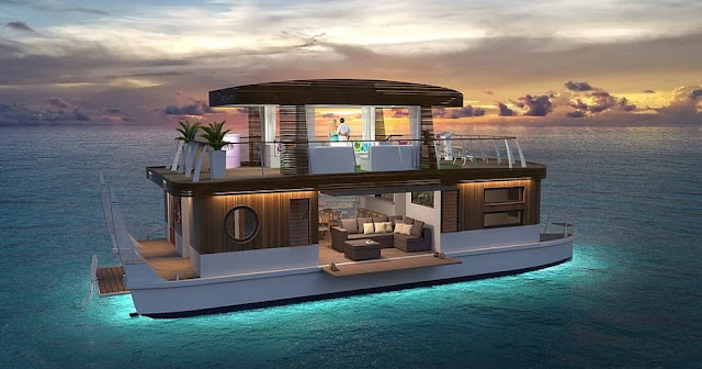 Vacationing with social distancing in a Luxury floating villa ""