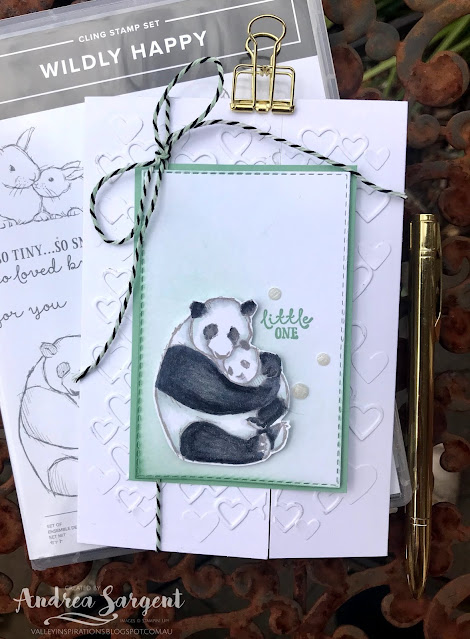 Wildly Happy Stampin Up card, Andrea Sargent, Valley Inspirations Independent Stampin' Up! Demonstrator, Adelaide, South Australia
