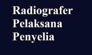 Uraian Tugas Radiografer Pelaksana Penyelia