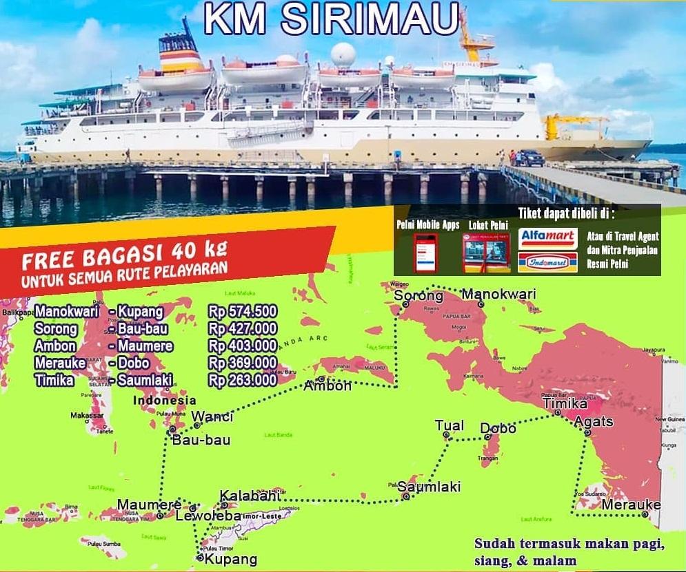 Kapal Pelni Sirimau Jadwal Harga Tiket Januari 2021