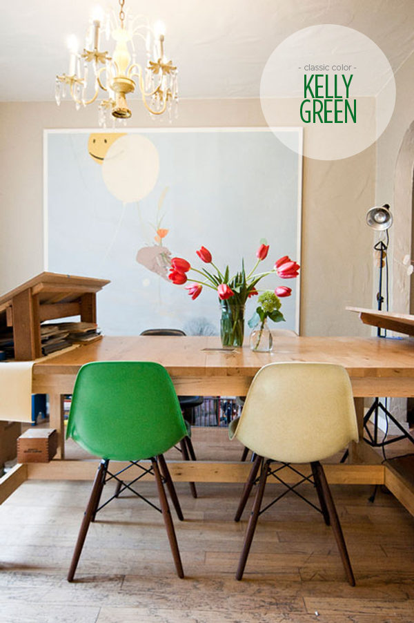 green dining room chairs | Classic Color: Kelly Green | B.A.S Blog