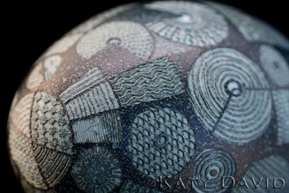 "©Katy David ""Altitude"" Acid etched emu eggshell"