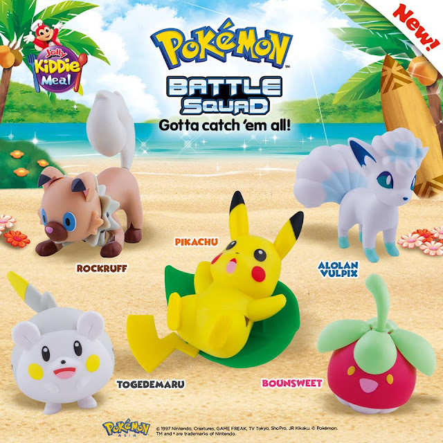 Jollibee's Pokémon Battle Squad  in your Jolly Kiddie Meal