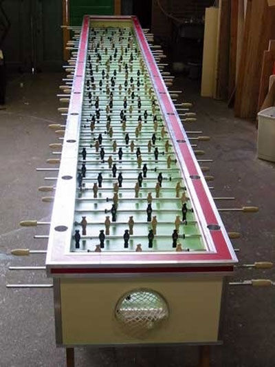 Hope you have a really big foosball table.