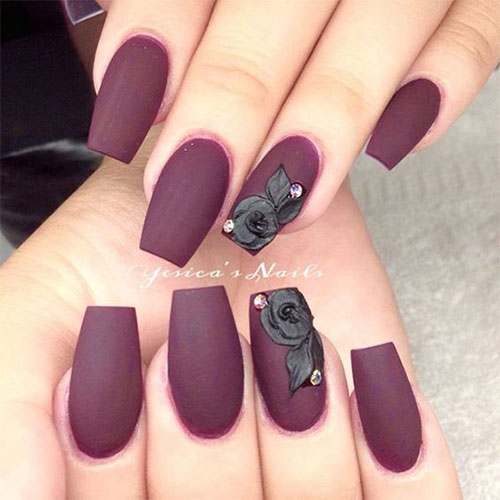 Very berry matte berry nails for fall season elegant nail art on matte berry nails prinsesfo Images
