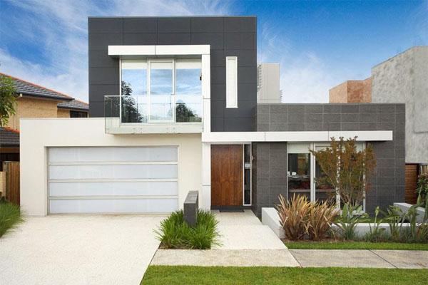Construindo minha casa clean fachadas de casas quadradas for Casa moderna 1 8