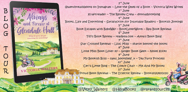 Always and Forever at Glendale Hall by Victoria Walters blog tour banner