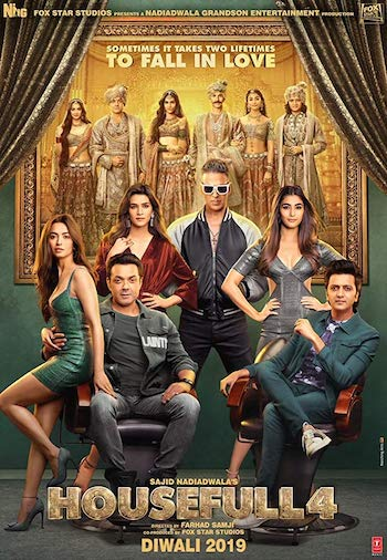Housefull 4 2019 Hindi 400Mb 480p pDVDRip Full Movie Watch Online Bolly4ufree.in