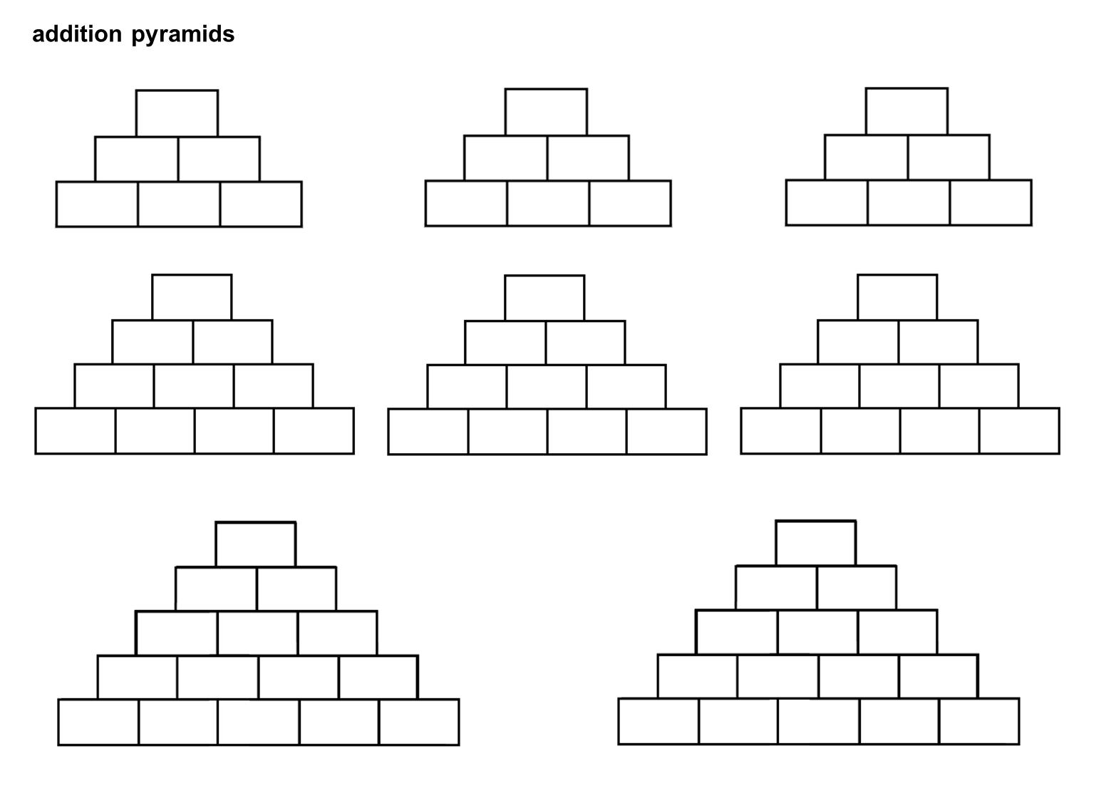 Blank Pyramid Diagram 5 20 Hp Briggs And Stratton Engine Median Don Steward Mathematics Teaching Number Pyramids