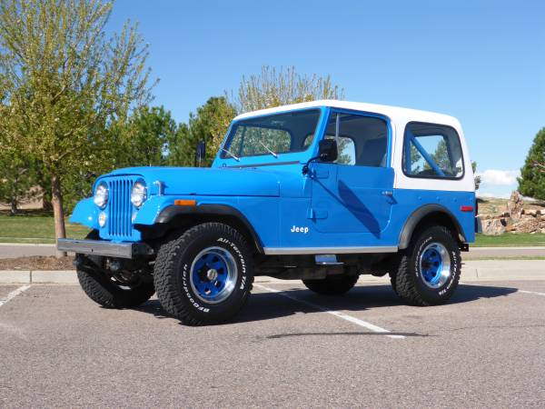 Daily Turismo: Engineered Jeans: 1977 Jeep CJ7 Renegade Levis 4x4