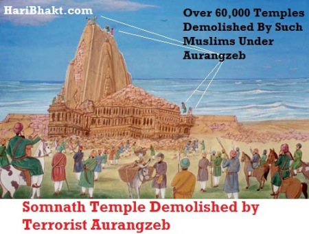 Somnath Temple Destruction by Aurangzeb