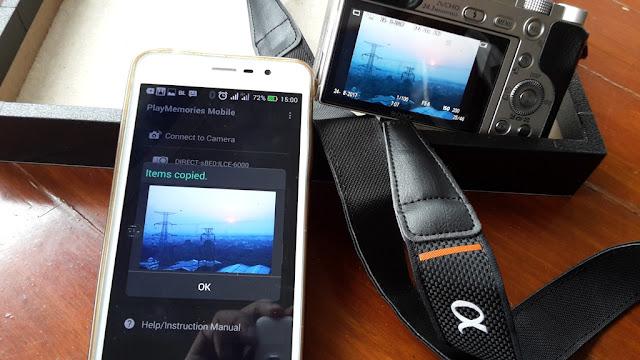 Memindahkan Foto Dari Kamera Ke Smartphone Dengan Play Memories Mobile