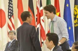 Perdana menteri kanada, Justin Trudeau sangat mengagumi presiden joko widodo
