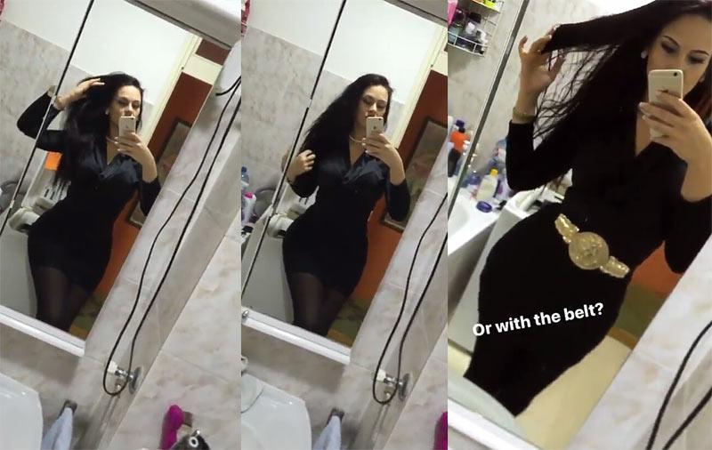 Mrs. Ogbonna again! Sonia puts killer curves on display in bathroom selfies