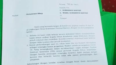 Besok Keputusan Nasib Pengunduran Diri 20 Pejabat Dinkes Banten Ditentukan