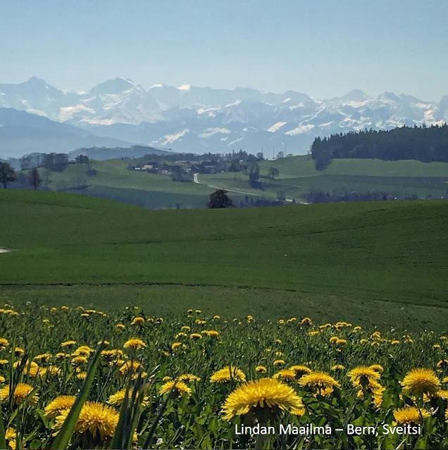 Alppimaisema Sveitsissä Bern