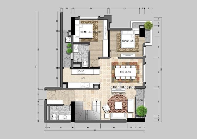 Thiết kế căn hộ tinh tế tại IRIS GARDEN