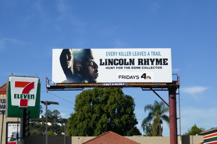 Lincoln Rhyme NBC series billboard