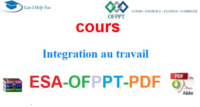 Intégration au Marche du travail Électromécanique des Systèmes Automatisées-ESA-OFPPT-PDF