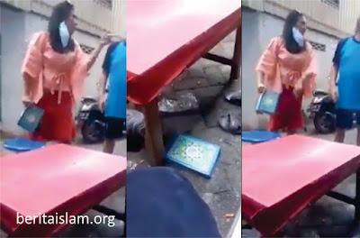 Wanita Ngamuk dan Melempar Alqur'an di Makassar Ditangkap