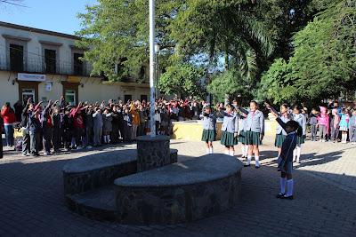 Conmemoran el 103 Aniversario de la promulgación de la Constitución Mexicana en Álamos