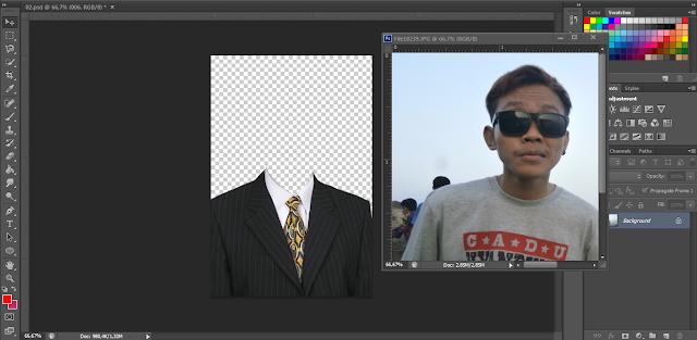 Cara Mudah Mengganti Baju dengan Jas di Photoshop