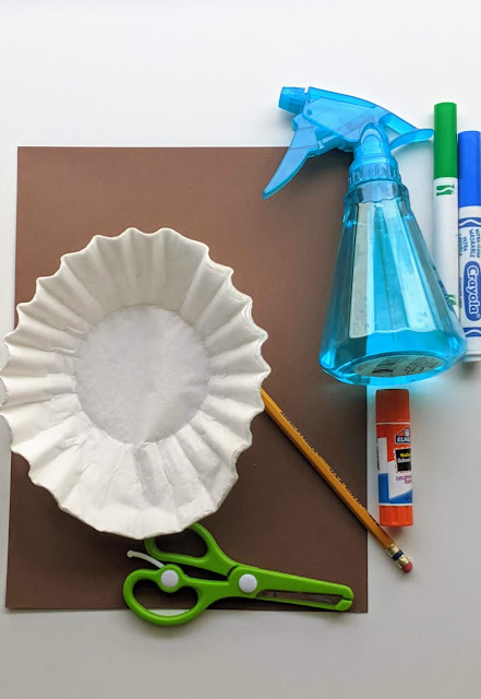 supplies for coffee filter Earth Day craft for kids