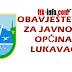 OPĆINA LUKAVAC - Saopštenje u vezi sanacije putne komunikacije