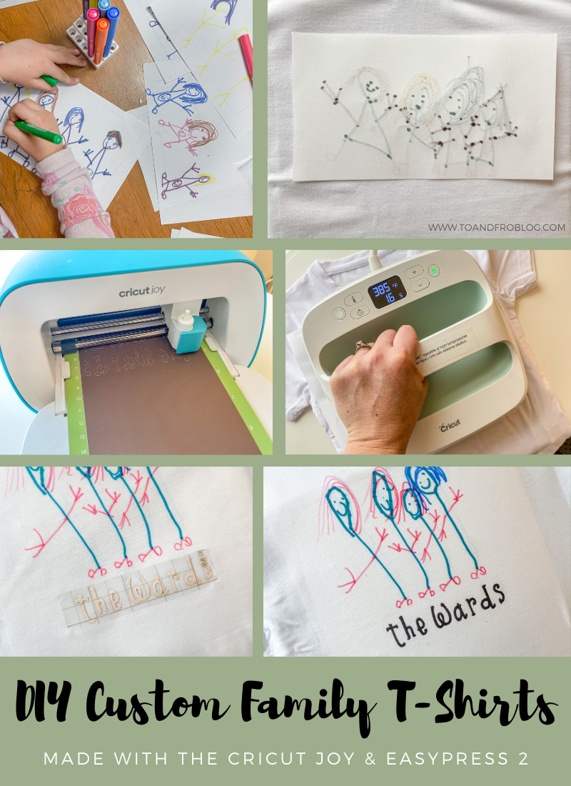 DIY Family T-Shirts - The Perfect Holiday Gift Made with the Cricut Joy & EasyPress 2