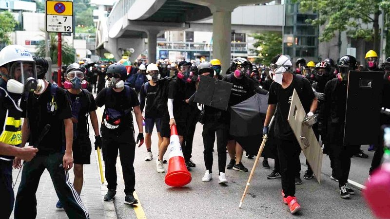 Hong Kong in the grip of riots since June last year