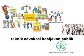 teknik advokasi kebijakan publik