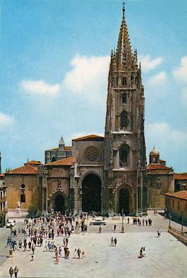 catedral, Oviedo, postal