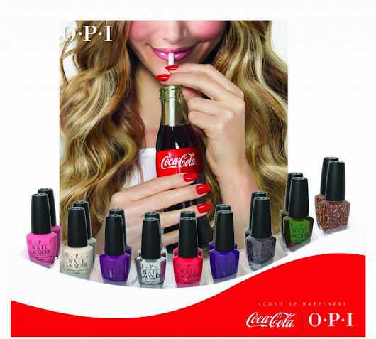 #1 On my nails - Coca-Cola By OPI ♡