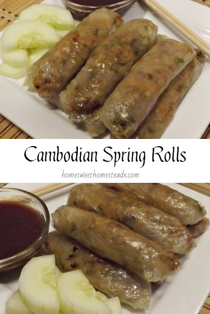 Cambodian Spring Rolls - Home Sweet Homestead