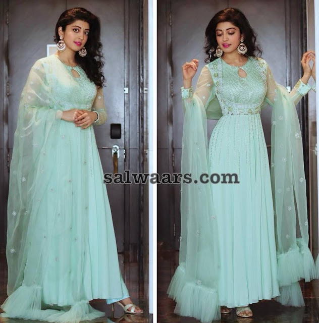 Pranitha Subhash in Anarkali Floor Length Salwar