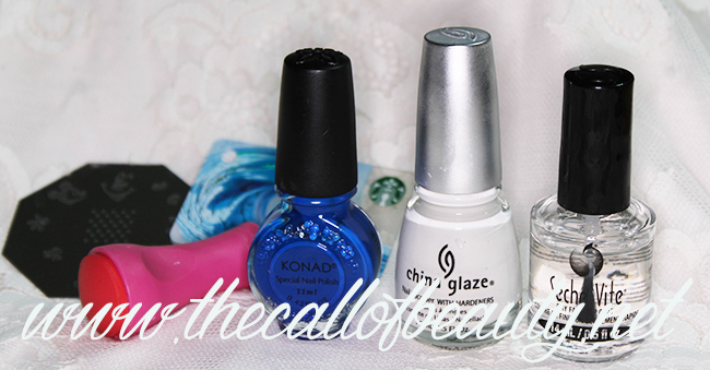Great Nail Art Ideas: Blue Floral