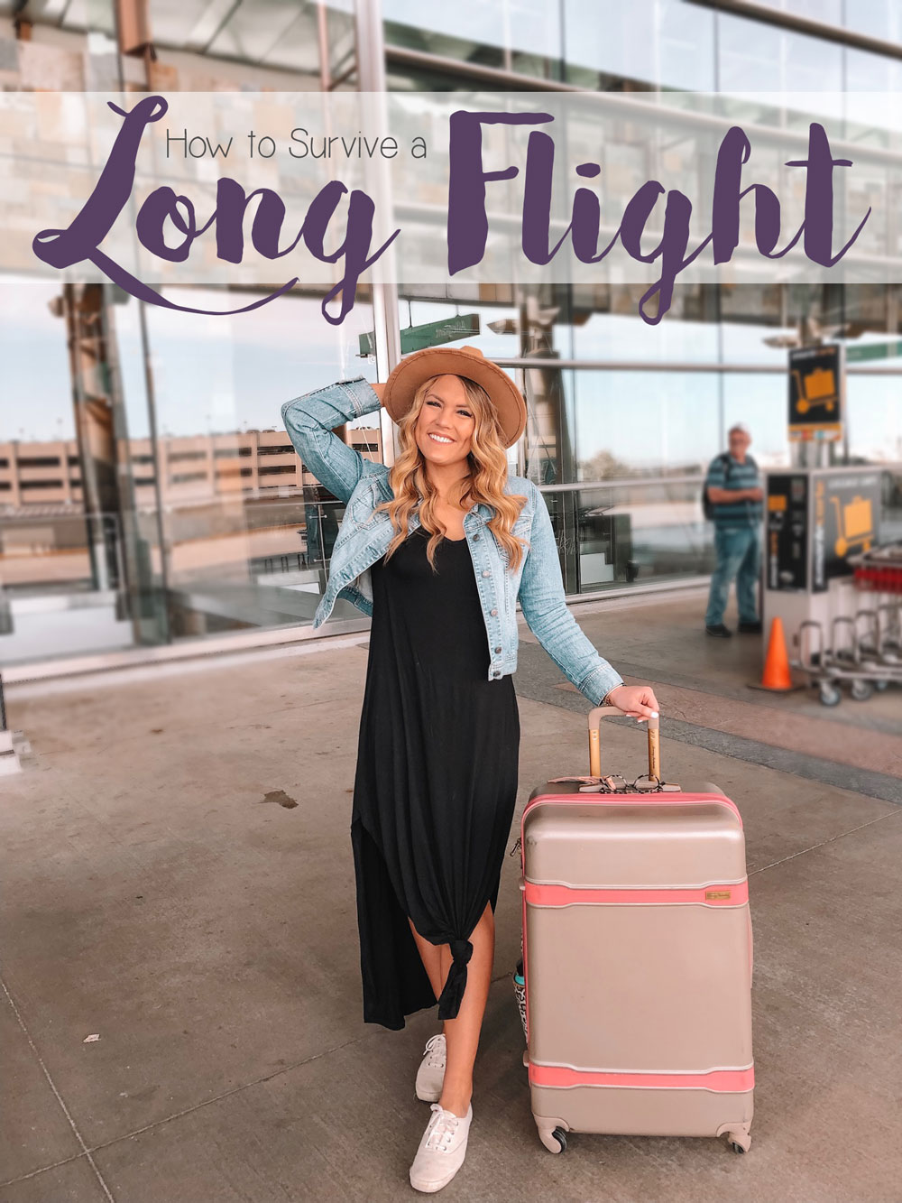 Blogger Amanda's OK shares tips on how to survive a long flight