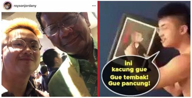 Viral Foto Selfie Mahfud MD dengan Royson Jordany 'Pengancam Bunuh Jokowi', Warganet: Pantes Kebal Hukum