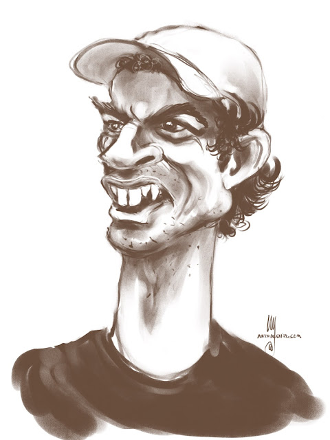 Andy Murray caricature by Artmagenta