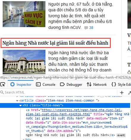 Khai thác dữ liệu web với AngleSharp trong .NET Core