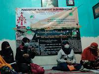 Mahasiswa Lakukan Sosialisasi Bahaya dan Pencegahan Corona di Tengah Acara Muslimatan