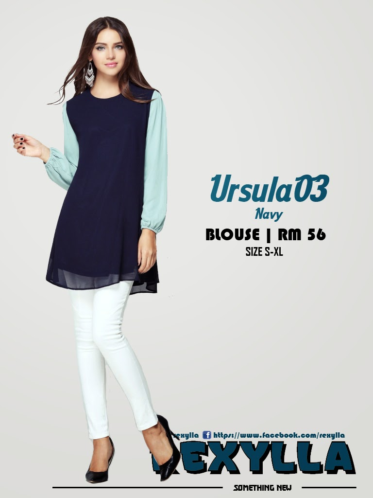 rexylla, blouse, joint colour, ursula03, navy