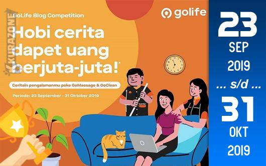 Kompetisi Blog - GoLife Berhadiah Total Uang Tunai 14 Juta Rupiah